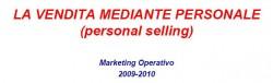 vendita mediante personale