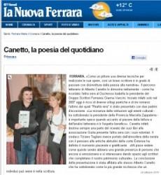 Alberto Canetto sulla stampa ferrarese