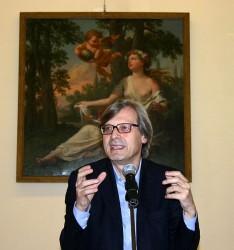 Vittorio  Sgarbi e l'arte-politica di Salemi