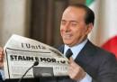 Berlusconi e L'Unità photo su personaggi e libri storici sulla Resistenza
