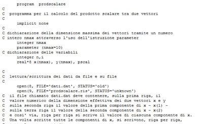 Programma per il calcolo del prodotto scalare tra due vettori - Programma per calcolo posa piastrelle ...