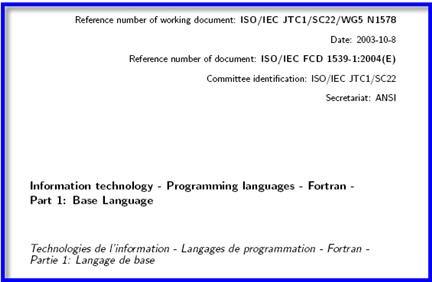 fortran 2003, specifiche fortran, manuali fortran, standard fortran,compilatori fortran