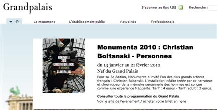 christian boltanski, christian boltanski e mostra  personnes, grand palais, monumenta 2010