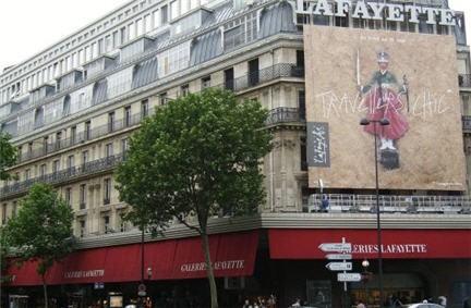Saldi invernali in francia,promozioni in francia,Galerie Lafayettes  Parigi,boulevard Haussmann Parigi