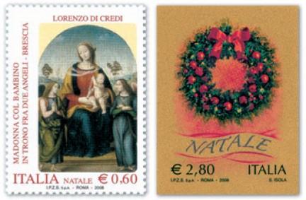 francobolli natale 2008 poste