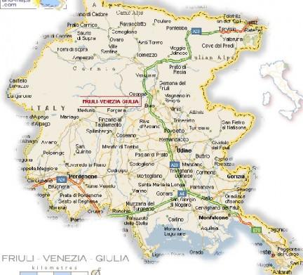 Dettagliata Cartina Del Friuli Venezia Giulia.Friuli Venezia Giulia Le Guide Di Supereva