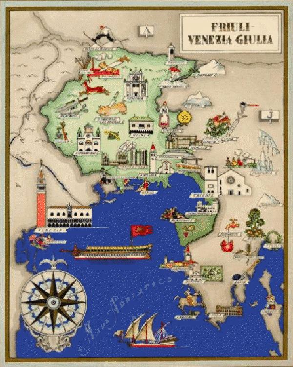 Mappe del friuli venezia giulia 1 6 for Arredamento friuli venezia giulia