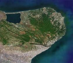 Il gargano visto dal satellite