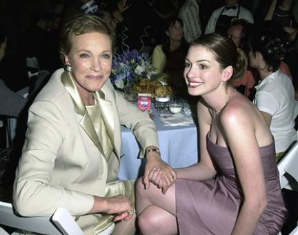 Julie Andrews e Anne Hathaway