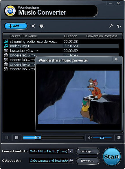 Duplicare file audio protetti