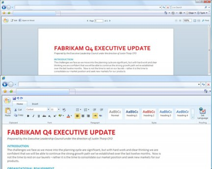 Microsoft Office 14 online