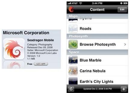 SeaDragon per iPhone