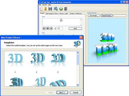 Testo il 3D
