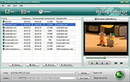 convertire file video