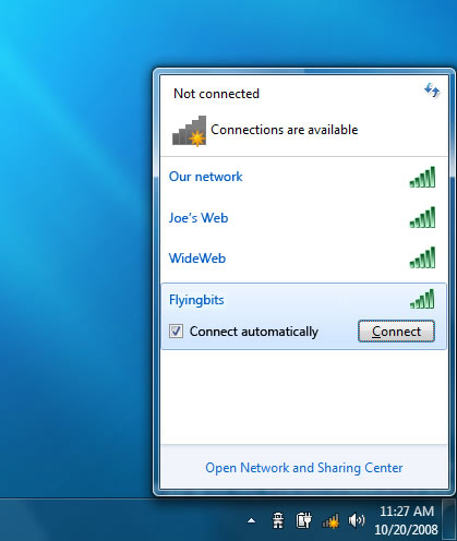 Gestione connessioni di rete