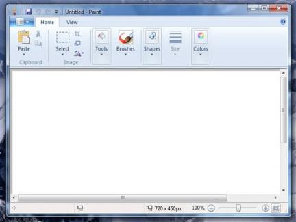 Paint in Windows 7