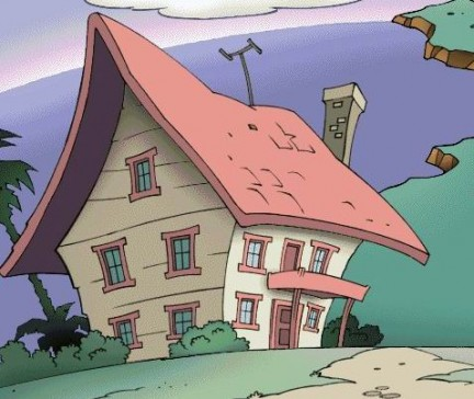disegno una casa sopra una collina