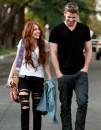 Miley Cyrus, due passi col boyfriend dopo il Super Bowl