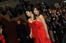Monica e Sophie, di rosso vestite
