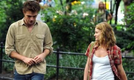 Rob Pattinson sul set di Remember me a NY