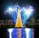 L'albero di Natale gallegiante di Rio