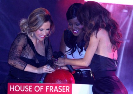 Sugababes a Oxford Street