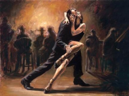 dipinto di coppia che balla tango
