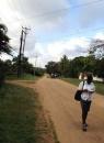 stradina sterrata nella zona Kibokoni