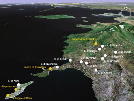 la regione di Gwassi vista dal satellite