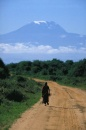 Amboseli: un maasai in mezzo alla savana