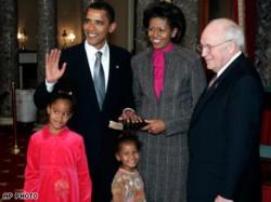 Barack Obama e la sua famiglia