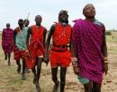 il colore rosso del tradizionale costume maasai
