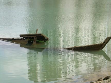 un naufragio...
