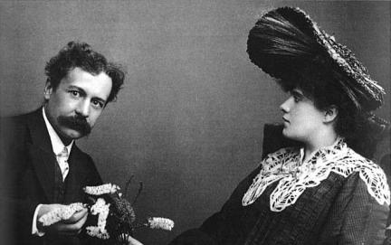 Renè Lalique con Augustine Alice Ledru