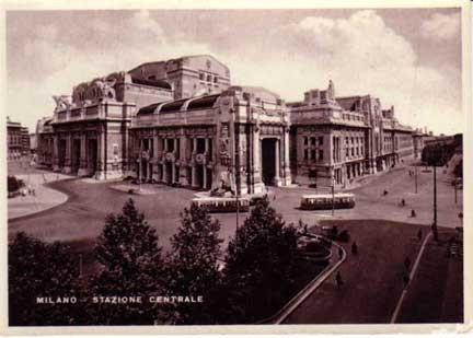 Stazione Centrale - cartolina d'epoca