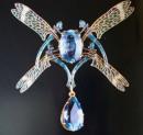 Spilla in oro, topazio e diamanti del 1904-1905 (Quimper, collection du musée des Beaux-Arts