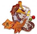 R Lalique - Pendente profilo di donna - Smalti
