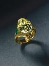 Louis Comfort Tiffany - Anello - Diamante giallo, smeraldo, oro - 1900