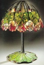 Louis Comfort Tiffany - Red Lotus_Lampada da tavolo