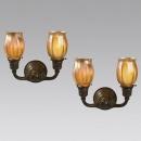 Louis Comfort Tiffany - Lampadario a muro - Tulipani di favrile-glass