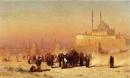 Louis Comfort Tiffany - Sulla via fra la Vecchia e la Nuova Cairo, la moschea di Mohammed Ali, e tombe di Mamelucchi - 1872