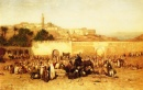 Louis Comfort Tiffany - Il giorno del mercato fuori dalle mura di Tangeri - 1873