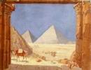 Louis Comfort Tiffany - Piramidi Egizie incorniciate dalle colonne del tempio - 1908
