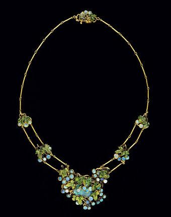 Louis Comfort Tiffany - Collana in oro, smalto, opale - 1904 ca