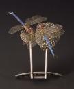 Louis Comfort Tiffany - Ornamento per capelli in platino, smalti e opali neri e rosa - 1904 ca