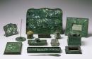Louis Comfort Tiffany - Set da scrivania in favrile-glass e bronzo - 1910-1920 ca