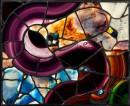 Louis Comfort Tiffany - Finestra della Bella Appartment - Disegno astratto - Met Museum