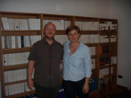 Io e Olen Steinhauer