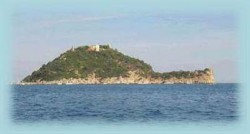 veduta dell'isola gallinara