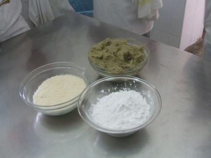 fecola, purea di carciofi e parmigiano